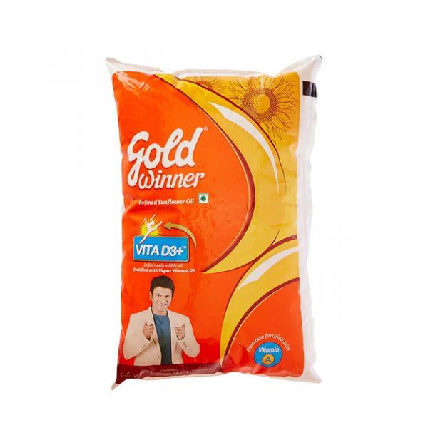 Gold Winner Refined Sunflower Oil 1 Liter Pack