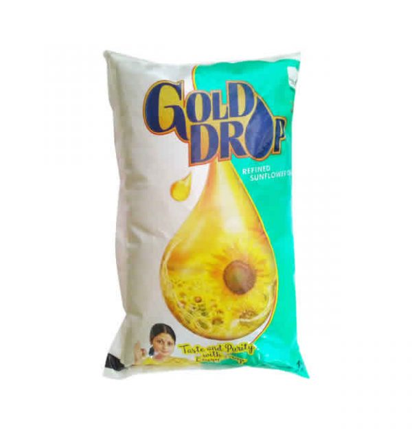 Gold Drop Refined Sunflower Oil 1 Liter Pouch