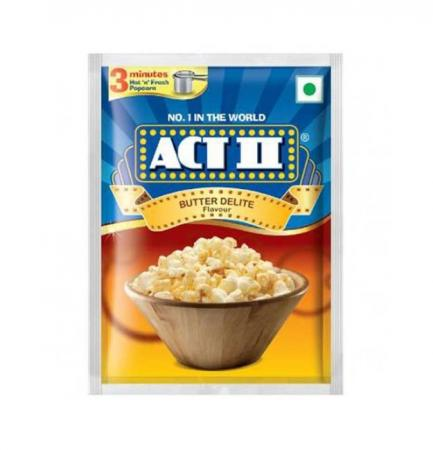 Act-II Instant Popcorn Butter Delite Flavour - 70g