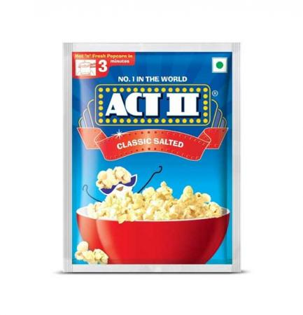 Act-II Instant Popcorn Classic Salted flavour - 90g